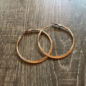 "Rose Gold 2"" Fashion Hoop Earrings"